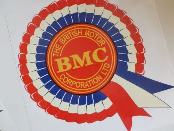 "BMC Off White Style Rosette Window or Sticky Backed Sticker. 14""."