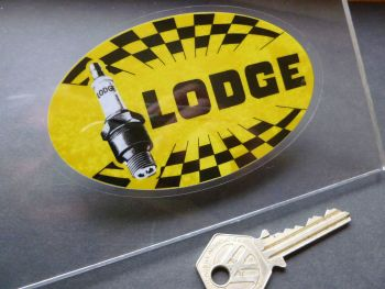 "Lodge Spark Plugs Old Style Window Sticker. 4""."