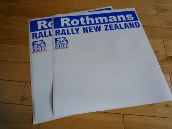 "Rally New Zealand Rothmans Plain Style Door Panel Stickers. 20"" Pair."