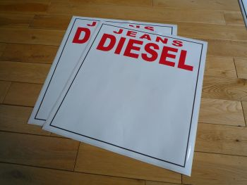 "Sam Remo Rally Diesel Jeans Door Panel Stickers. 20"" Pair."