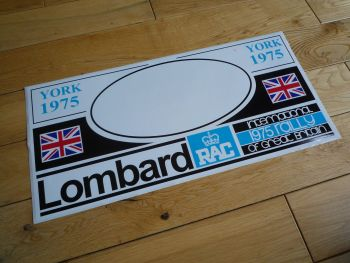 Lombard RAC Rally York 1974 or 1975 Black & Blue Sticker. 450mm