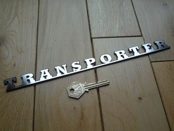 "Transporter Laser Cut Self Adhesive Badge. 10.5""."