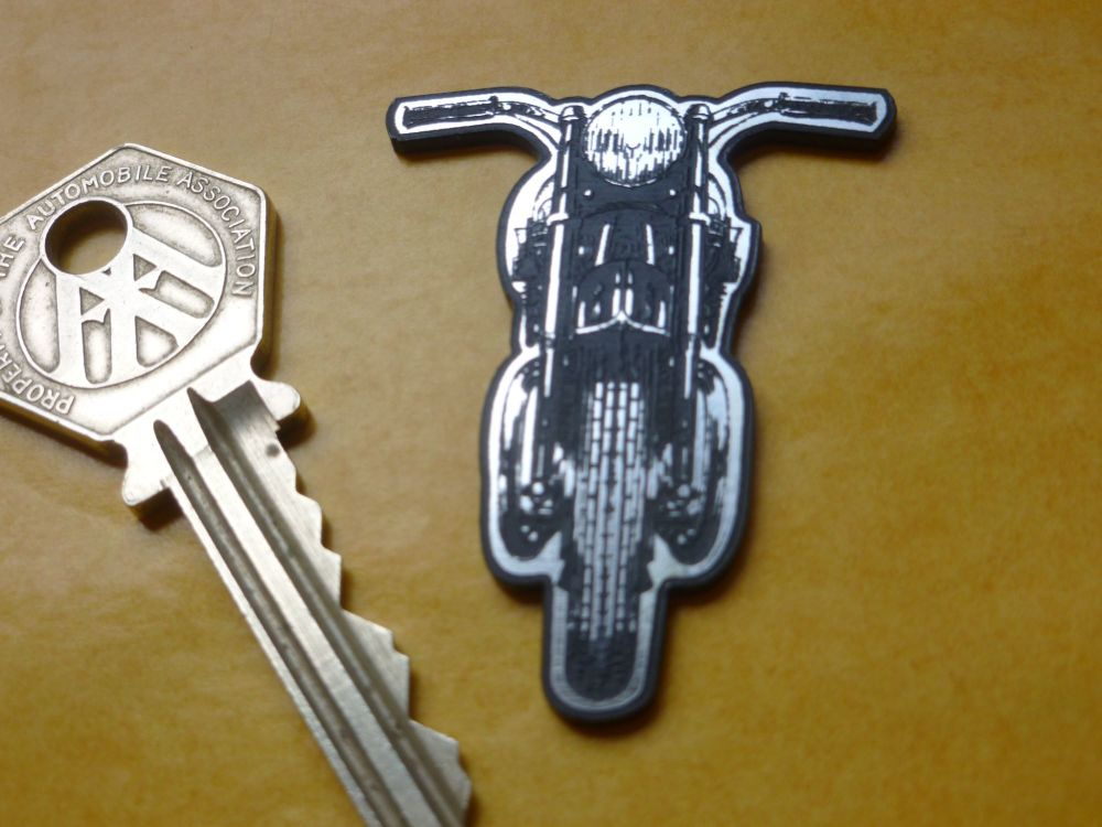 "Classic Motorcycle Laser Cut Self Adhesive Badge. 2""."
