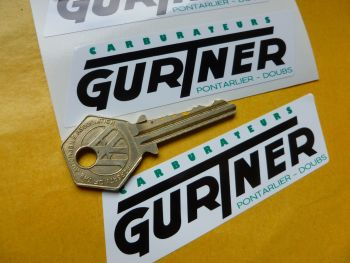 "Gurtner Carburateurs Stickers. 4"" Pair."