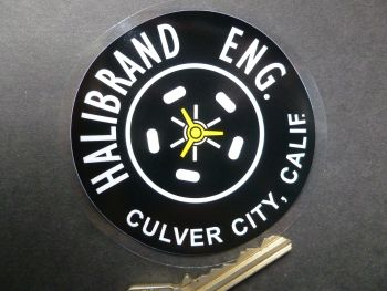 "Halibrand Wheels Old Style Window Sticker. 3""."