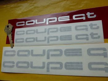 "Audi COUPE GT Text Cut Vinyl Stickers. 7"" or 9.5"" Pair."