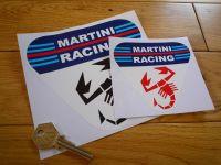 "Abarth Martini Racing Triangle Sticker. 4"" or 6""."