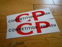 Competition Proven Oblong Stickers. 10