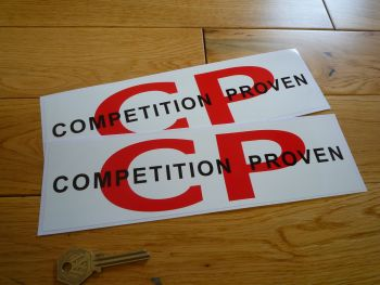 "Competition Proven Oblong Stickers. 10"" Pair."