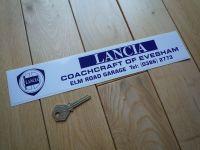 """Lancia Coachcraft of Evesham Dealer Sticker. 12""""."""