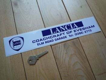 "Lancia Coachcraft of Evesham Dealer Sticker. 12""."