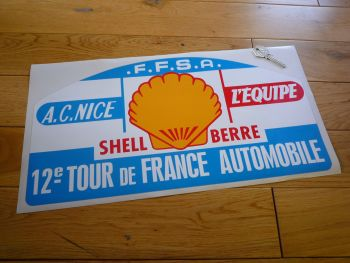 "12e Tour de France Automobile Rally Plate Style Sticker. 17.25""."