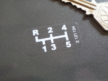 Getrag etc Dog Leg Pattern White & Clear Gearbox Stickers. 38mm.
