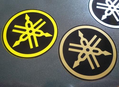 Yamaha Tuning Forks Circular Stickers. 2