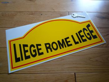 "Liege Rome Liege Rallye Rally Plate Style Sticker. 14"" or 16""."