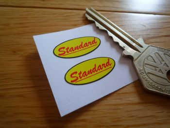 Standard Italian Budget Motorcycle Shock Absorber Stickers. 27mm Pair.