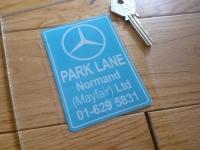 Mercedes Benz Dealer Window Sticker - Park Lane Normand Ltd - Various Colours - 4