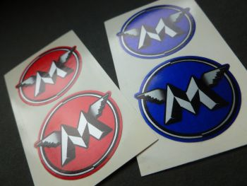 "Matchless Circled M Stickers. 1.5"" Pair."