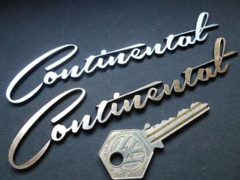 Continental Script Laser Cut Self Adhesive Car Badge. 145mm.
