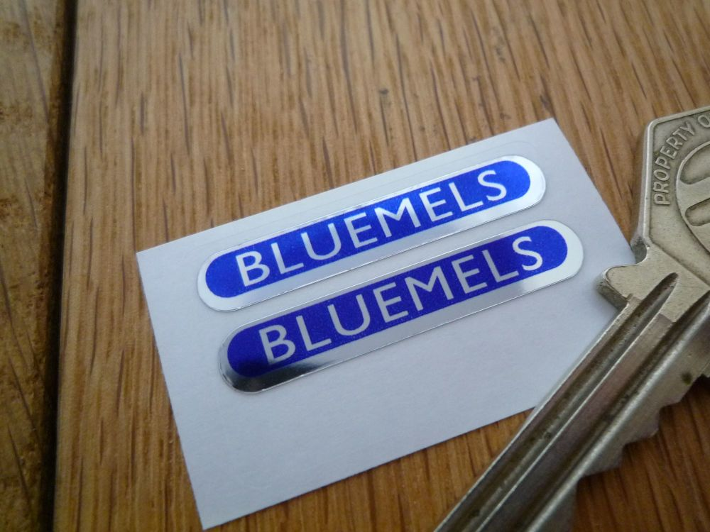Bluemel's Foil Rounded Oblong Stickers. 35mm Pair.