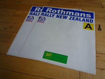 "New Zealand Rally Rothmans BP and Class A Style Door Panel Stickers. 20"" Pair."