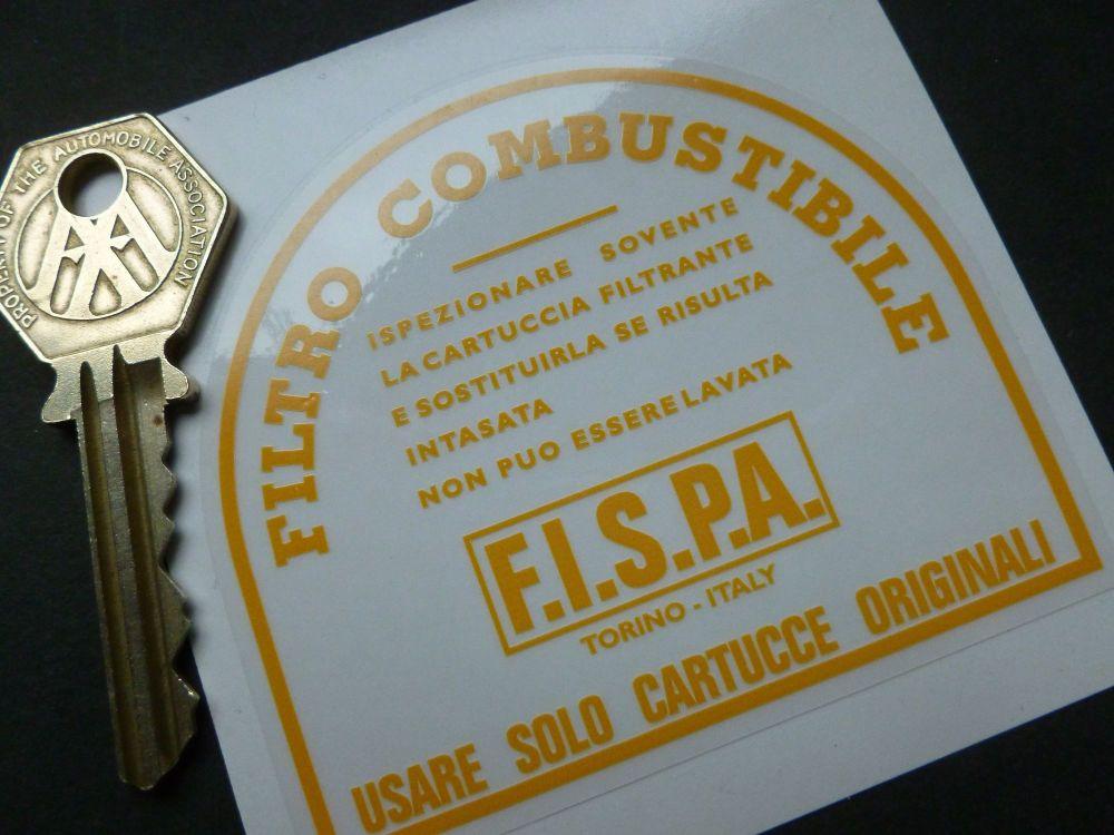 "Fispa & Ferrari Fuel Filter Canister Sticker. 3""."