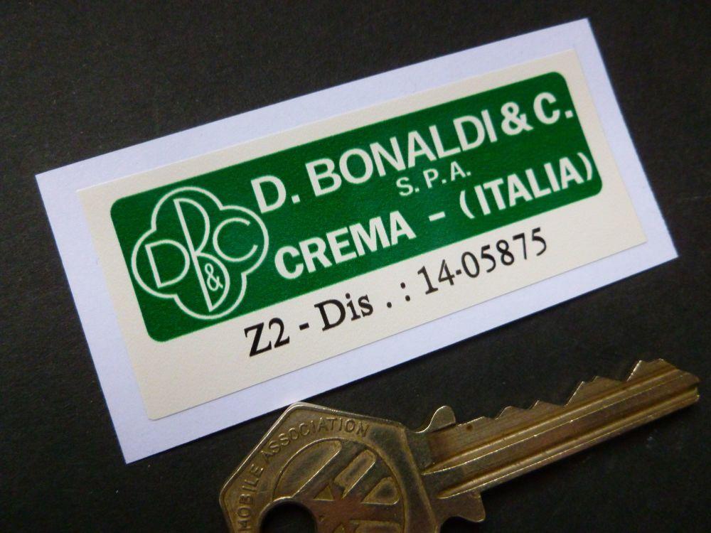 D. Bonaldi & C. Crema Italia S.P.A. Z2 Green & Off White Servo Sticker. 70mm.