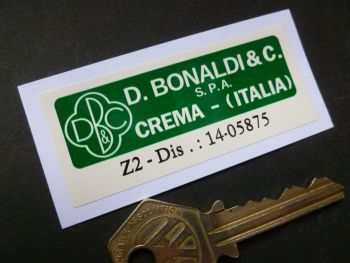 D. Bonaldi & C. Crema Italia S.P.A. Z2 Green & Off White Servo Sticker. 70mm.