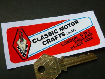 "Classic Motor Crafts Fibre Glass Bermuda Hardtop Sticker. Austin Healey MG Triumph etc. 3.5""."