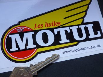 "Motul 1950 - 60's Style Winged Text Sticker. 5.5""."