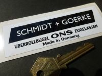 Schmidt & Goerke Black & White Oblong Roll Cage Überrollbügel Sticker. 4