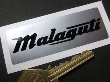Malaguti Engine Case Sticker. 79mm.