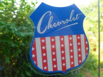 "Chevrolet USA Shield Car Body or Window Sticker. 4""."
