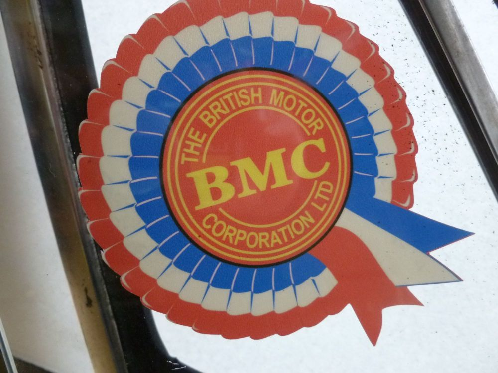 "BMC Rosette Face Stick Window Sticker. 2"" or 4""."