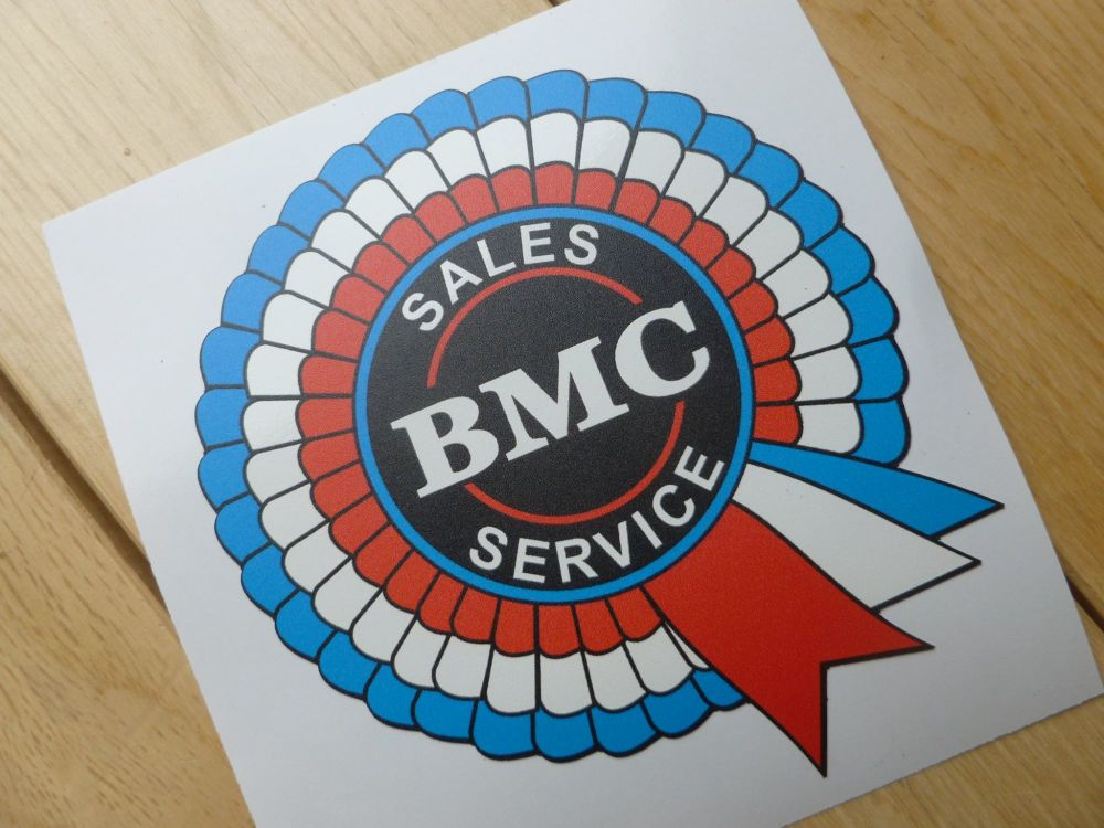 "BMC Australia Sales & Service Rosette Car Body or Face Stick Window Sticker. 4""."