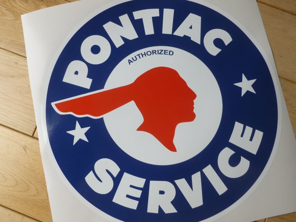 "Pontiac Service Gas Pump Sticker. 12""."