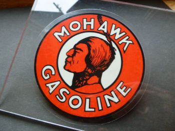 "Mohawk Gasoline Window Sticker. 4""."