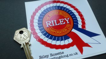 "Riley Rosette Car Stickers. 4"" Pair."