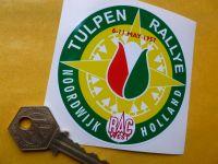 Tulip Rally Tulpenrallye Noordwijk Rally Sticker. 3.25