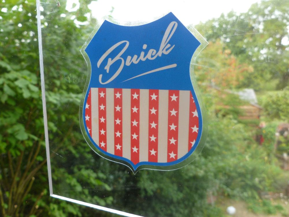 "Buick USA Shield Car Body or Window Sticker. 4""."