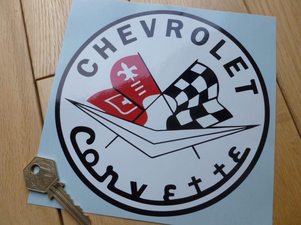 Chevrolet Corvette old style classic Circular Sticker. 6.5