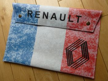 Renault French Tricola Style Large Document Holder Bag. A4.