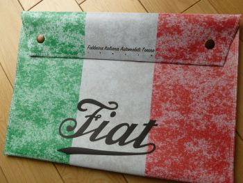 Fiat Italian Tricola Style Large Document Holder Bag. A4.