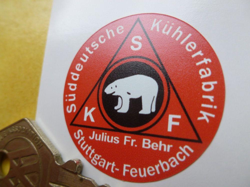 SKF Stuttgart Classic Car Washer Bottle Sticker. 35mm.