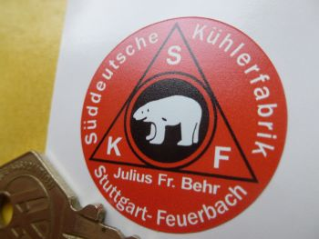 SKF Stuttgart Classic Car Washer Bottle Sticker. 35mm.