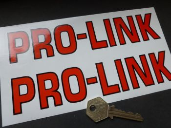 "Pro-Link Outlined Style Solid Text Cut Vinyl Stickers. 7.5"" Pair."