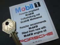 Mobil One Oil Change Sticker. Style 6. 2.75
