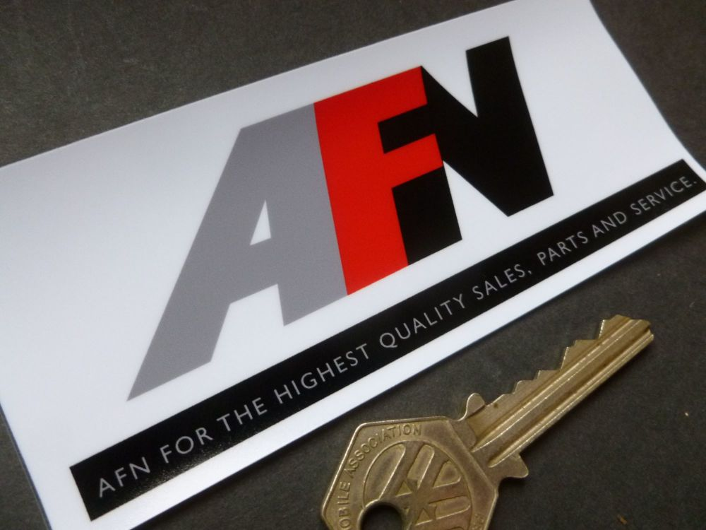 "AFN Dealers Window Sticker. Style 2. 4.75""."