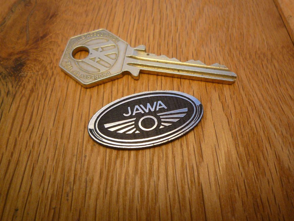 "Jawa Border Style Oval Laser Cut Self Adhesive Bike Badge. 1.5""."