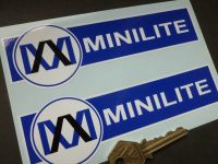 Minilite Blue & White Shaped Stickers. 6